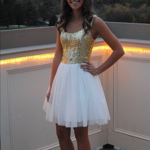 Gold and White Dress!